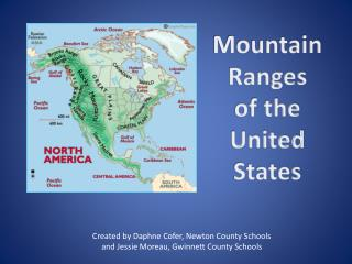 Mountain Ranges    of the    United States
