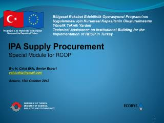 IPA Supply Procurement