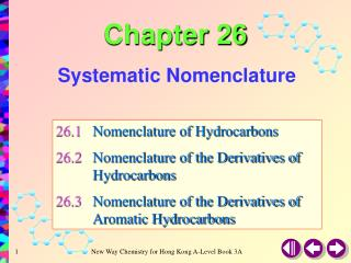 Systematic Nomenclature