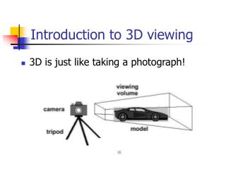 Introduction to 3D viewing