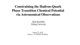 Constraining the Hadron-Quark Phase Transition Chemical Potential via Astronomical Observations
