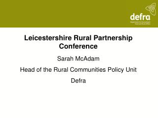 Leicestershire Rural Partnership Conference