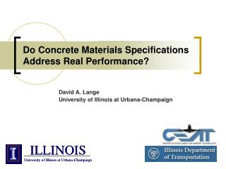 Do Concrete Materials Specifications Address Real Performance?