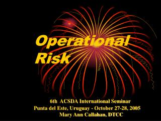 Operational Risk