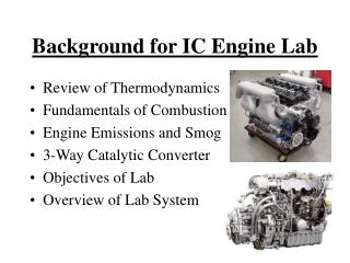 Background for IC Engine Lab