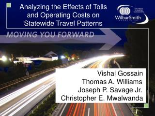Analyzing the Effects of Tolls and Operating Costs on Statewide Travel Patterns