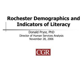 Rochester Demographics and Indicators of Literacy
