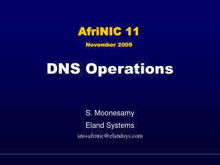DNS Operations