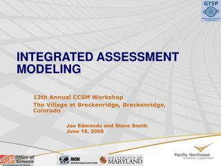 INTEGRATED ASSESSMENT MODELING