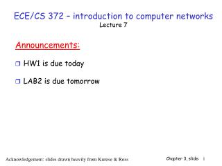 ECE/CS 372 – introduction to computer networks Lecture 7