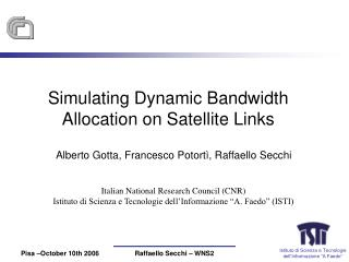 Simulating Dynamic Bandwidth Allocation on Satellite Links