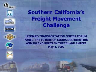 Southern California's Freight Movement Challenge