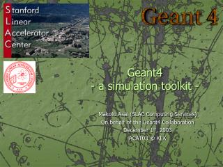 Geant4 - a simulation toolkit -