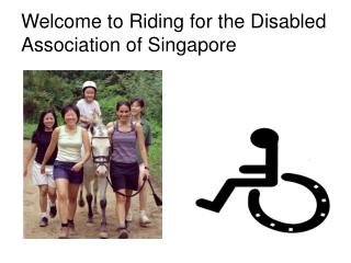 Welcome to Riding for the Disabled Association of Singapore