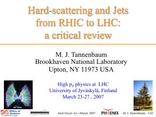 Hard-scattering and Jets  from RHIC to LHC:                          a critical review
