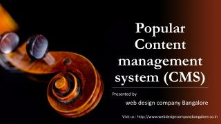 Popular Content management system (CMS)
