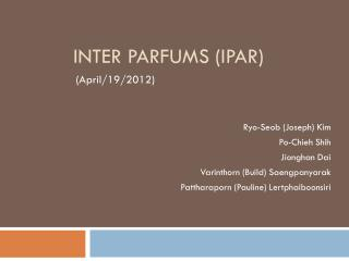 INTER PARFUMS (IPAR)