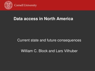 Data access in North America