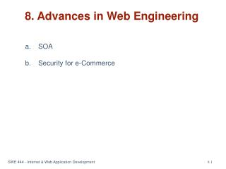 8. Advances in Web Engineering