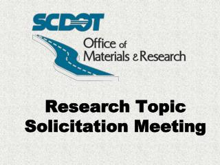 Research Topic Solicitation Meeting