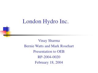 London Hydro Inc.