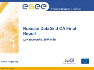 Russian DataGrid CA Final Report