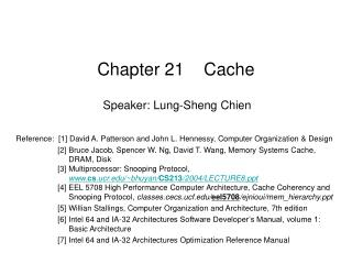 Chapter 21    Cache