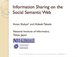 Information Sharing on the Social Semantic Web