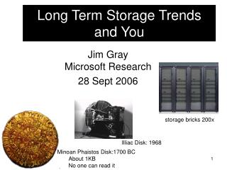 Long Term Storage Trends and You