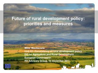 Future of rural development policy: priorities and measures