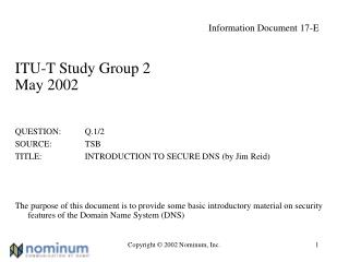 Information Document 17-E