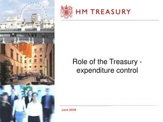 Role of the Treasury - expenditure control