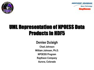 UML Representation of NPOESS Data Products in HDF5