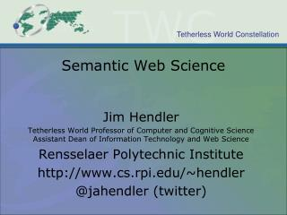 Semantic Web Science