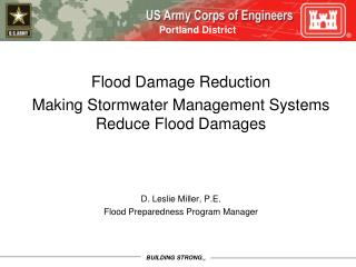 Flood Damage Reduction Making Stormwater Management Systems Reduce Flood Damages