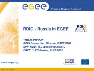 RDIG - Russia in EGEE