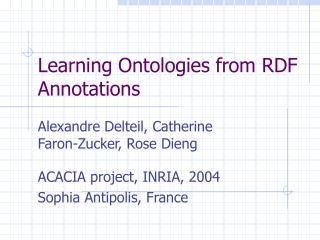 Learning Ontologies from RDF Annotations
