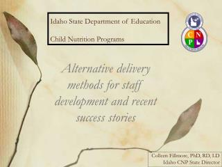 Idaho State Department of Education Child Nutrition Programs
