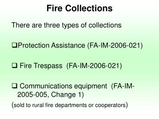 Fire Collections