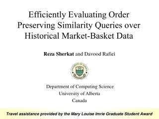 Efficiently Evaluating Order Preserving Similarity Queries over Historical Market-Basket Data