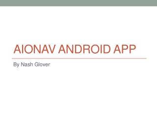 AIONAV Android App