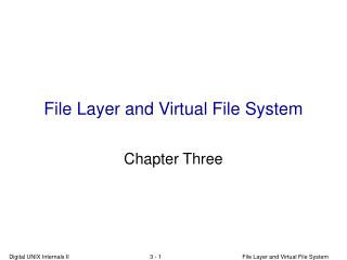 File Layer and Virtual File System