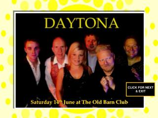 Saturday 14 th  June at The Old Barn Club