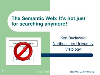The Semantic Web: It's not just for searching anymore!