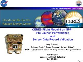 CERES Flight Model 5 on NPP : Pre-Launch Performance  and  Sensor Data Record Validation