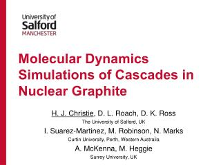 Molecular Dynamics Simulations of Cascades in Nuclear Graphite