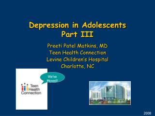 Depression in Adolescents Part III
