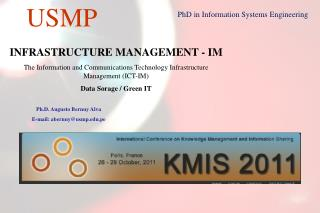 INFRASTRUCTURE MANAGEMENT - IM