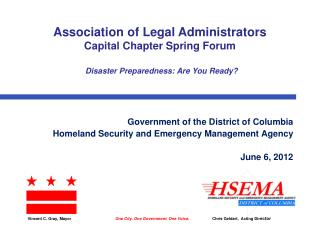 Government of the District of Columbia Homeland Security and Emergency Management Agency