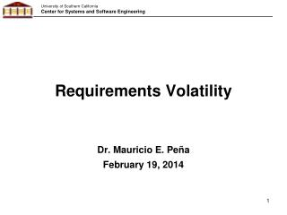Requirements Volatility